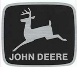 John Deere Leaping Deere Trademark Logo Decal 4.00-in x 3.465-in - JD5604