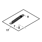 John Deere Seat Adjuster Spring Kit - AM144483