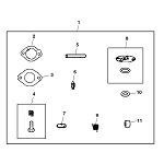 John Deere Carburetor Repair Kit - AUC16168