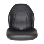 John Deere Black Vinyl Seat  - AM138195