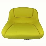 John Deere Mid Back Yellow Seat - AUC13381