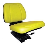 John Deere Yellow Vinyl Seat with Suspension - RE62227