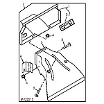 John Deere Mower Deck Rear Deflector Kit - BM19847