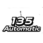 John Deere 135 Model Number Decal (2 required) - GX21869