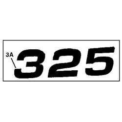 John Deere 325 Model Number Decal (2 required) - M116522