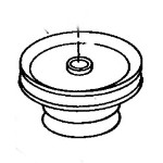 John Deere 50-inch Mower Deck Center Drive Pulley - AM39954