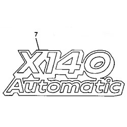 John Deere X140 Model Number Decal (2 required) - GX22542