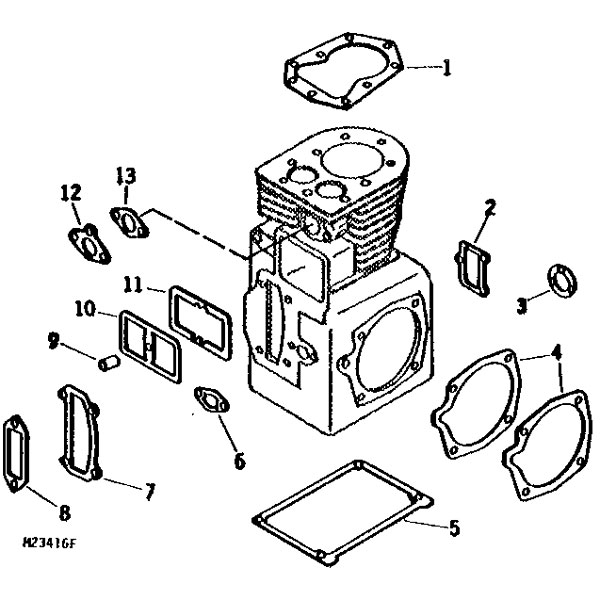 john deere 210 mower parts diagram