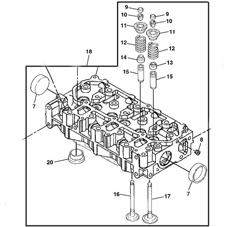 John Deere Cylinder Head Mia880090
