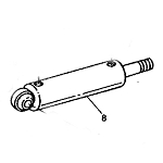 John Deere Power Steering Cylinder - AUC12366