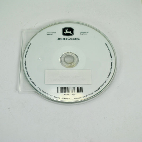 John Deere Operator's Manual on CD - OMAR162176CD