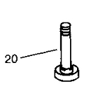 John Deere Blade Spindle Shaft - AM35306