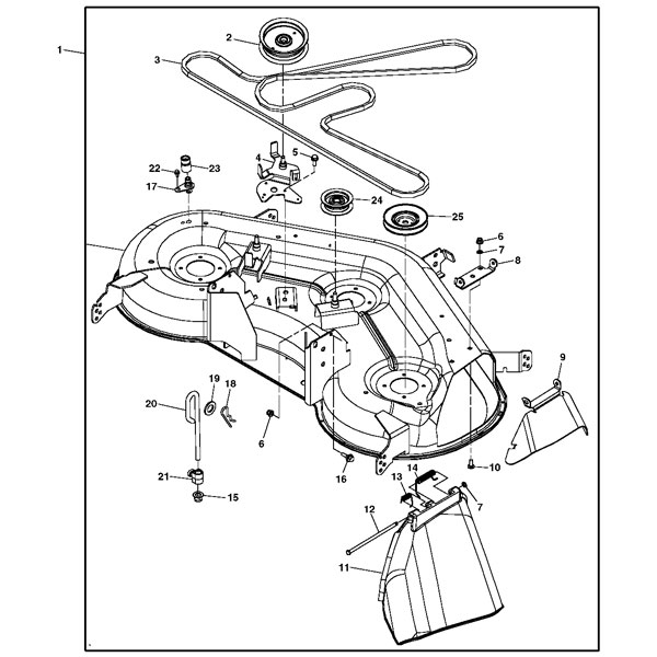 John Deere L130 Belt Diagram John Deere Mower Belt Diagram