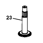 John Deere Spindle Shaft - M126326
