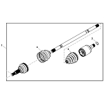 John Deere Left Hand Rear Axle Shaft Kit - AM145320