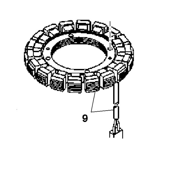 a schematic diagram of jeffcott rotor with the stator