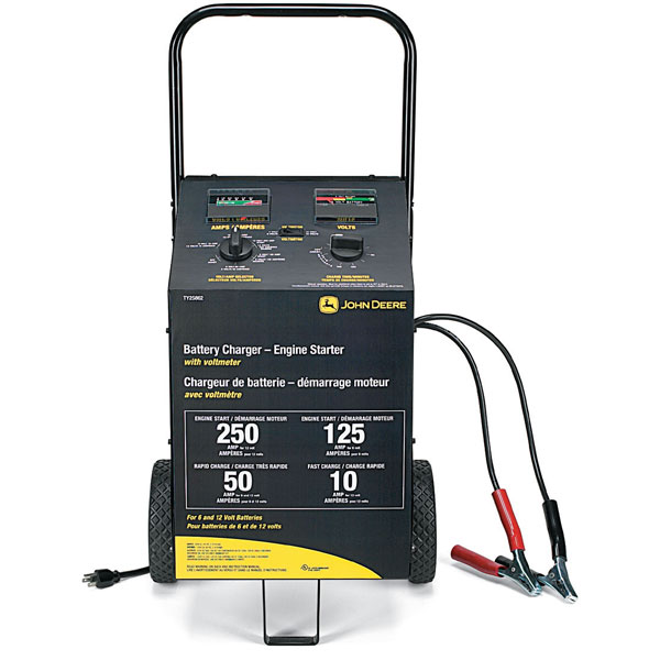 ty25862 john deere battery charger and engine starter with voltmeter and Simple Electrical Wiring Diagrams at creativeand.co