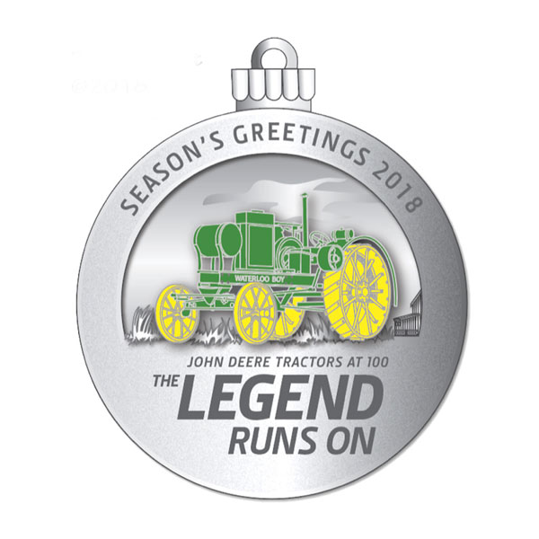John Deere Limited Edition 2018 Pewter Christmas Ornament - 23rd in Series  - LP70226 - John Deere Limited Edition 2018 Pewter Christmas Ornament - 23rd In