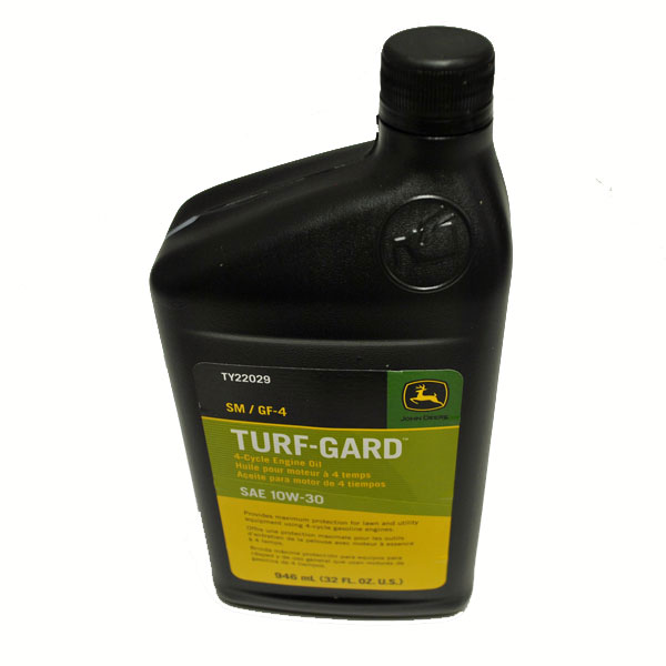 John Deere GF-3 10W30 Turf Gard 4-Cycle Motor Oil Quart - TY22029