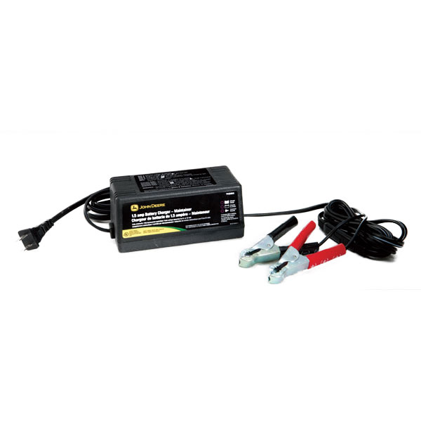 John Deere Fully Automatic 1.5-Amp Battery Charger/Maintainer - TY25866