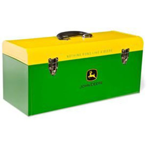 John Deere 20-inch Green and Yellow Hand Carry Toolbox - HR-20HB-2