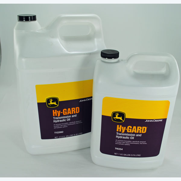 John Deere Hy-Gard Transmission and Hydraulic Oil - Gallons=TY6354 -  2 5-Gallons=TY22062 - 5-Gallons = AR69444