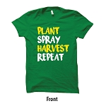 AHW Custom Plant Spray Harvest Repeat T-Shirt - GD110