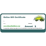 Gift Certificate - Please select value below