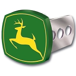 John Deere Metal Trailer Hitch Receiver Cover - 002232R01