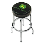 John Deere Black Garage Stool with Logo - 004746R01