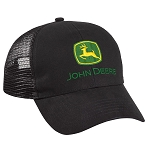 John Deere Authentic Black Twill Mesh Back Cap - 282866