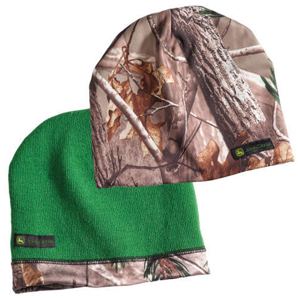 73ee5913efe8d Add to My Lists. John Deere 9-inch Reversible Camo Green Beanie ...