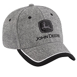 John Deere Charcoal Tweed Cap - 249769