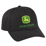 John Deere Black Pro Chino Twill Cap - LP69106