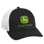 John Deere Black Chino Soft Mesh Cap - LP69107