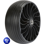 Michelin X Tweel 13x6.5N6 Grooved Turf Caster Wheel - B122628TWC