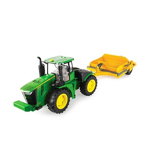 John Deere 1:16 scale Big Farm 9570R Tractor with Scraper - 47179