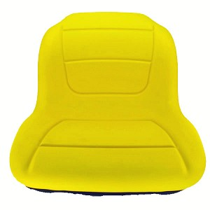 John Deere Yellow High Back Seat with Lumbar Support - AUC11474