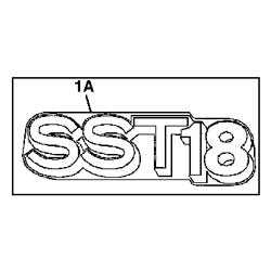 John Deere SST18 Model Number Decal (2 required) - M143357