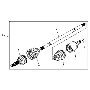 John Deere RH Front Axle Driveshaft Kit - AM146258