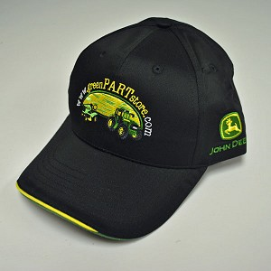 John Deere Black Custom Twill Cap GreenPartStore.com - Free with $250.00 purchase