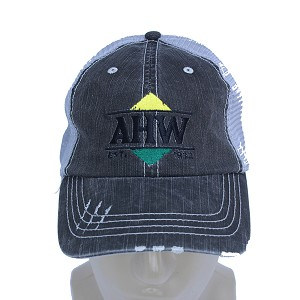 AHW Custom Herringbone Cotton Twill Mesh Back Cap - MC6990